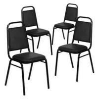 Hercules Series Black Vinyl Banquet Chair (Set of 4)
