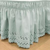 EasyFit™ Eyelet Twin/Full Ruffled Bed Skirt in Spa