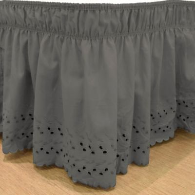 buy gray bed skirt from bed bath & beyond