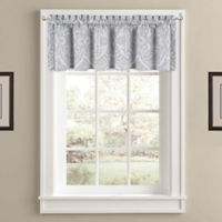 J. Queen New York Colette Window Valance in Silver