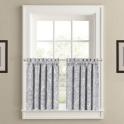 Buy J Queen New York Colette Window Curtain Panel Pair In Silver From Bed Bath Beyond