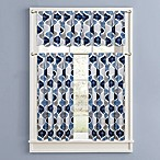 Priya Straight Window Valance in Blue