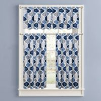 Priya 32-Inch Window Curtain Tier Pair in Blue