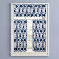 Priya Straight Window Valance in Blue