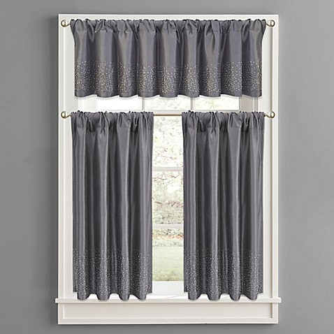 Twilight Polyester Window Curtain Tier Pair And Valance In