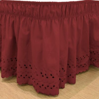 Buy Red Bed Skirt Queen From Bed Bath Amp Beyond