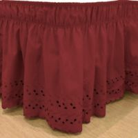 EasyFit™ Eyelet Queen/King Ruffled Bed Skirt in Burgundy