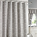J. Queen New York Colette 72-Inch x 84-Inch Shower Curtain in Silver