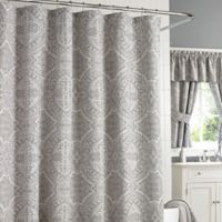 J. Queen New York Colette 72-Inch x 95-Inch Extra-Long Shower Curtain in Silver