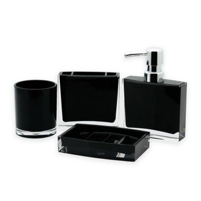 Kingston Brass Canyon 4 Piece Bathroom Accessory Set In Black