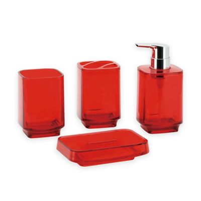 kingston brass zion 4 piece bathroom ensemble in red