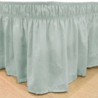 EasyFit™ Solid Twin/Full Ruffled Bed Skirt in Spa