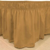EasyFit™ Solid Twin/Full Ruffled Bed Skirt in Gold