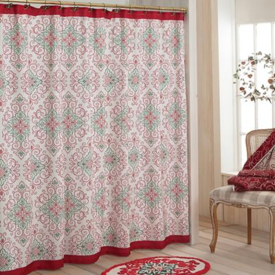 Lenox® French Perle™ Groove Holiday Shower Curtain