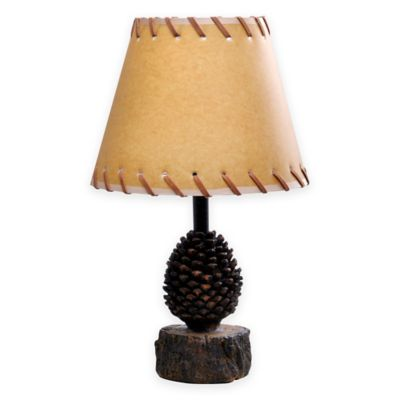 acorn theme accent lamp with oiled paper shade