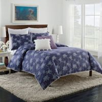 Cupcakes and Cashmere Sketch Floral King Duvet Cover in Blue