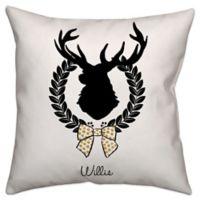 Elegant Reindeer Throw Pillow in Black/White