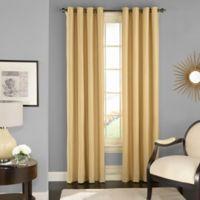 Solar Shield Wilder 84-Inch Grommet Room Darkening Window Curtain Panel in Wheat