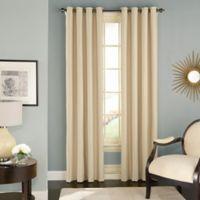 Solar Shield Wilder 84-Inch Grommet Room Darkening Window Curtain Panel in Latte