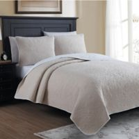 Marseille Reversible Twin Quilt Set in Oatmeal