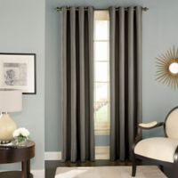 Solar Shield Wilder 63-Inch Grommet Room Darkening Window Curtain Panel in Grey