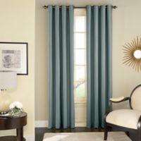 Solar Shield Wilder 108-Inch Grommet Room Darkening Window Curtain Panel in Blue