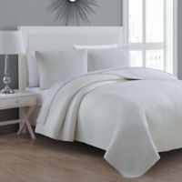 Tristan Twin Quilt Set in Ivory