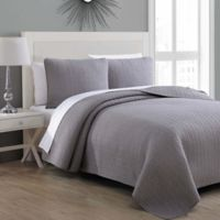 Tristan Twin Quilt Set in Grey