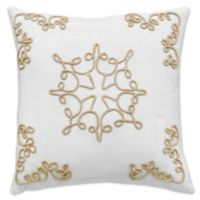 Bluestone Court Harper Rope 16-Inch Square Throw Pillow in White