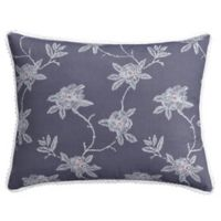 Cupcakes and Cashmere Sketch Floral Standard Pillow Sham in Blue