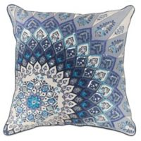Kas Starburst 18-Inch Square Throw Pillow in Blue