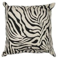Kas Zebra Oasis 18-Inch Square Throw Pillow in Black/White