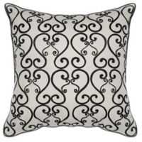 Kas Luminous 18-Inch Square Throw Pillow in Black/White