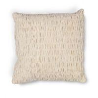 Kas Velvet 18-Inch Square Throw Pillow in Ivory
