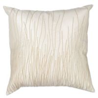 Kas Simplicity 18-Inch Square Throw Pillow in Ivory
