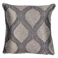 Kas® Elegance 18-Inch Square Throw Pillow in Grey