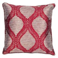 Kas® Elegance 18-Inch Square Throw Pillow in Red