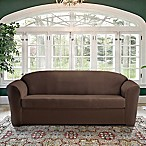 FurnitureSkins™ Kensington 2-Piece Stretch Sofa Cover with Cushion Cover in Chestnut
