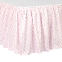 Just Born® Sparkle Crib Skirt in Pink