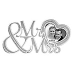 "Malden® 3-Inch x 3-Inch ""Mr. & Mrs."" Glitter Heart Picture Frame"