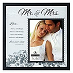 "Malden® 8-Inch x 10-Inch ""Mr. & Mrs."" with Corinthians Verse Frosted Glass Picture Frame"