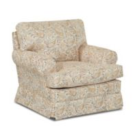 Klaussner Cavendish Swivel Glider in Yellow Joule Daisy