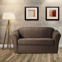 FurnitureSkins™ Austin 2-Piece Distressed Leather Loveseat Slipcover in Tobacco