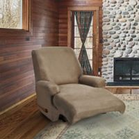 FurnitureSkins™ Austin 4-Piece Distressed Leather Recliner Slipcover in Biscuit