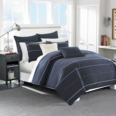 nautica southport twin comforter set in navy