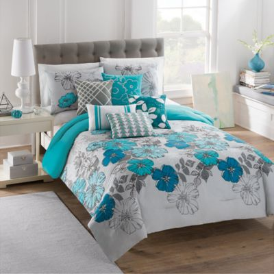 Buy Teal And Grey Comforter From Bed Bath Amp Beyond