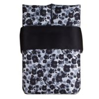 Kensie Lyla Full/Queen Duvet Cover Set in Black/White