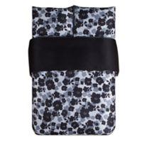 Kensie Lyla Full/Queen Duvet Cover Set in Black/White
