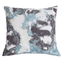 Kensie Kittery Square Throw Pillow in Grey/Blue