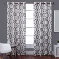 Exclusive Home Kochi 96-Inch Lined Window Curtain Panel Pair in Black Pearl